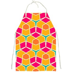Shapes In Retro Colors Pattern			full Print Apron by LalyLauraFLM