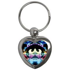 Space Cosmos Black Blue White Red Key Chains (heart)  by Costasonlineshop