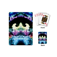 Space Cosmos Black Blue White Red Playing Cards (mini)  by Costasonlineshop