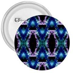 Blue, Light Blue, Metallic Diamond Pattern 3  Buttons by Costasonlineshop