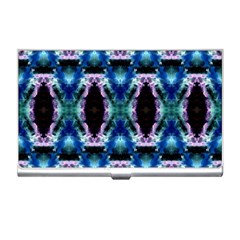 Blue, Light Blue, Metallic Diamond Pattern Business Card Holders by Costasonlineshop
