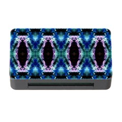 Blue, Light Blue, Metallic Diamond Pattern Memory Card Reader With Cf by Costasonlineshop