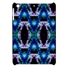 Blue, Light Blue, Metallic Diamond Pattern Apple Ipad Mini Hardshell Case by Costasonlineshop