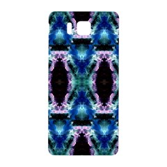 Blue, Light Blue, Metallic Diamond Pattern Samsung Galaxy Alpha Hardshell Back Case by Costasonlineshop