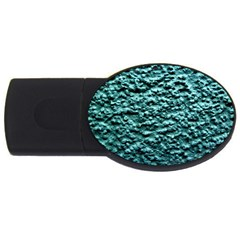 Blue Green  Wall Background Usb Flash Drive Oval (2 Gb)  by Costasonlineshop