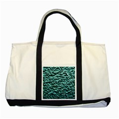 Blue Green  Wall Background Two Tone Tote Bag  by Costasonlineshop