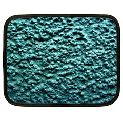 Blue Green  Wall Background Netbook Case (xl)  by Costasonlineshop