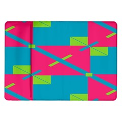 Rectangles And Diagonal Stripes			samsung Galaxy Tab 10 1  P7500 Flip Case by LalyLauraFLM