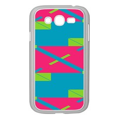 Rectangles And Diagonal Stripes			samsung Galaxy Grand Duos I9082 Case (white) by LalyLauraFLM
