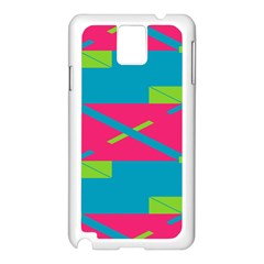 Rectangles And Diagonal Stripes			samsung Galaxy Note 3 N9005 Case (white) by LalyLauraFLM
