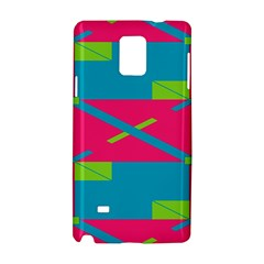 Rectangles And Diagonal Stripes			samsung Galaxy Note 4 Hardshell Case by LalyLauraFLM
