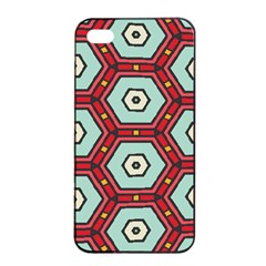 Hexagons Pattern			apple Iphone 4/4s Seamless Case (black) by LalyLauraFLM