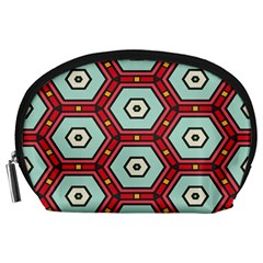 Hexagons Pattern Accessory Pouch by LalyLauraFLM