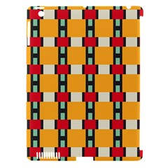 Rectangles And Squares Pattern			apple Ipad 3/4 Hardshell Case (compatible With Smart Cover) by LalyLauraFLM