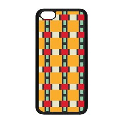 Rectangles And Squares Pattern			apple Iphone 5c Seamless Case (black) by LalyLauraFLM