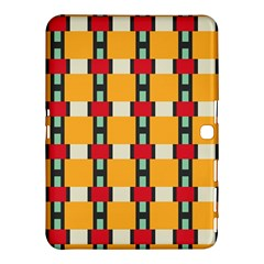 Rectangles And Squares Pattern			samsung Galaxy Tab 4 (10 1 ) Hardshell Case by LalyLauraFLM