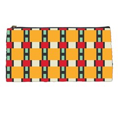 Rectangles And Squares Pattern 	pencil Case by LalyLauraFLM