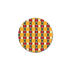 Rectangles And Squares Pattern			golf Ball Marker (4 Pack)