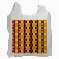 Rectangles And Squares Pattern			recycle Bag (one Side) by LalyLauraFLM