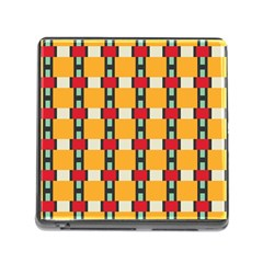 Rectangles And Squares Pattern			memory Card Reader (square) by LalyLauraFLM