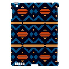 Rhombus  Circles And Waves Pattern			apple Ipad 3/4 Hardshell Case (compatible With Smart Cover) by LalyLauraFLM