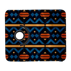 Rhombus  Circles And Waves Pattern			samsung Galaxy S Iii Flip 360 Case by LalyLauraFLM