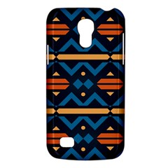 Rhombus  Circles And Waves Pattern			samsung Galaxy S4 Mini (gt I9190) Hardshell Case by LalyLauraFLM