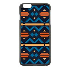 Rhombus  Circles And Waves Pattern			apple Iphone 6 Plus/6s Plus Black Enamel Case by LalyLauraFLM