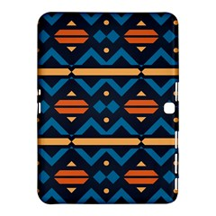 Rhombus  Circles And Waves Pattern			samsung Galaxy Tab 4 (10 1 ) Hardshell Case by LalyLauraFLM