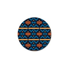 Rhombus  Circles And Waves Pattern			golf Ball Marker