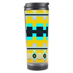 Rectangles And Other Shapes Travel Tumbler by LalyLauraFLM