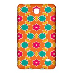Pink Flowers Pattern			samsung Galaxy Tab 4 (7 ) Hardshell Case by LalyLauraFLM