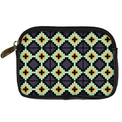 Pixelated Pattern 	digital Camera Leather Case by LalyLauraFLM