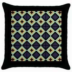 Pixelated Pattern			throw Pillow Case (black) by LalyLauraFLM