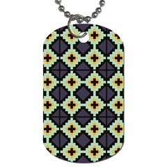 Pixelated Pattern			dog Tag (one Side) by LalyLauraFLM