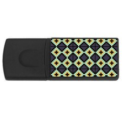 Pixelated Pattern			usb Flash Drive Rectangular (4 Gb) by LalyLauraFLM