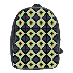 Pixelated Pattern			school Bag (large) by LalyLauraFLM