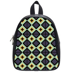 Pixelated Pattern			school Bag (small) by LalyLauraFLM
