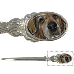 Selfie Of A Golden Retriever Letter Openers by timelessartoncanvas