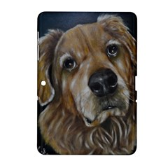 Selfie Of A Golden Retriever Samsung Galaxy Tab 2 (10 1 ) P5100 Hardshell Case  by timelessartoncanvas