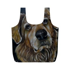 Selfie Of A Golden Retriever Full Print Recycle Bags (m)  by timelessartoncanvas