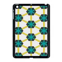 Blue Stars And Honeycomb Pattern			apple Ipad Mini Case (black) by LalyLauraFLM