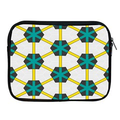 Blue Stars And Honeycomb Pattern			apple Ipad 2/3/4 Zipper Case by LalyLauraFLM