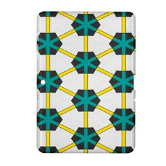 Blue Stars And Honeycomb Pattern			samsung Galaxy Tab 2 (10 1 ) P5100 Hardshell Case by LalyLauraFLM