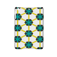Blue Stars And Honeycomb Pattern			apple Ipad Mini 2 Hardshell Case by LalyLauraFLM