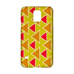 Red Brown Triangles Pattern			samsung Galaxy S5 Hardshell Case by LalyLauraFLM