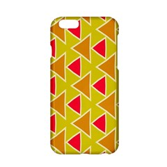 Red Brown Triangles Pattern			apple Iphone 6/6s Hardshell Case by LalyLauraFLM