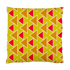 Red Brown Triangles Pattern 	standard Cushion Case (two Sides) by LalyLauraFLM