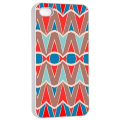Rhombus And Ovals Chains			apple Iphone 4/4s Seamless Case (white) by LalyLauraFLM