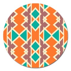 Rhombus Triangles And Other Shapes			magnet 5  (round) by LalyLauraFLM